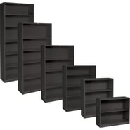 HON® Brigade™ Metal Bookcases, Black