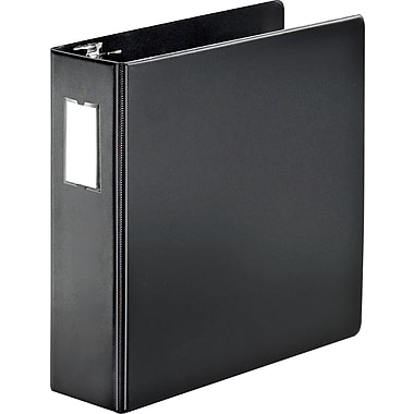 3in. Cardinal® SuperStrength™ Binder with Label Holder and Locking Slant-D® Rings, Black