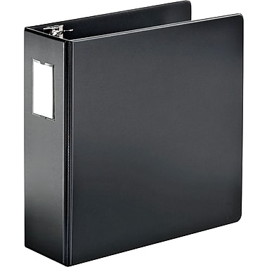 Cardinal 4in. SuperStrength Binder with Label Holder and Locking Slant-D Rings, Black