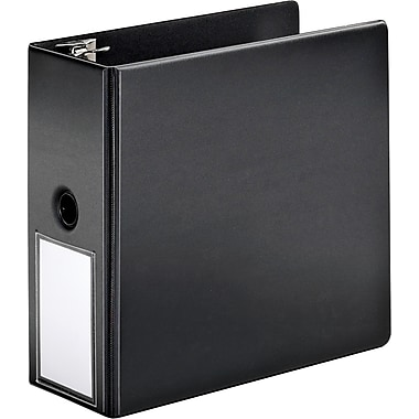 Cardinal 5in. SuperStrength Binder with Label Holder and Locking Slant-D Rings, Black