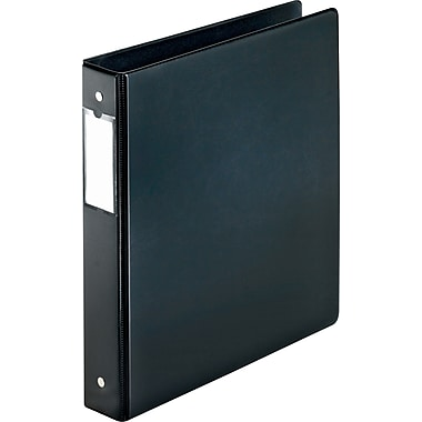 Cardinal EasyOpen Locking 1.5-Inch Round 3-Ring Binder, Black (18822CB)