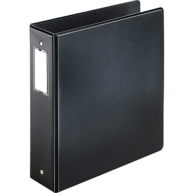 Cardinal Easy Open 3-Inch 3-Ring Binder with Locking Round Rings , Black (18842)