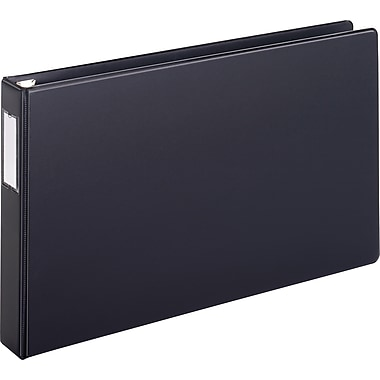 Cardinal Easy Open Ledger and Tabloid 1.5 Inch Slant D 3-Ring Binder, Black (12122)