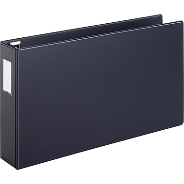 Cardinal Easy Open 3-Inch Slant D 3-Ring Binder, Black (12142)