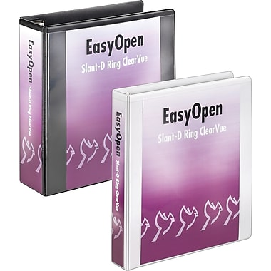 3in. Cardinal® EasyOpen® ClearVue™ Binders with Locking D-Rings