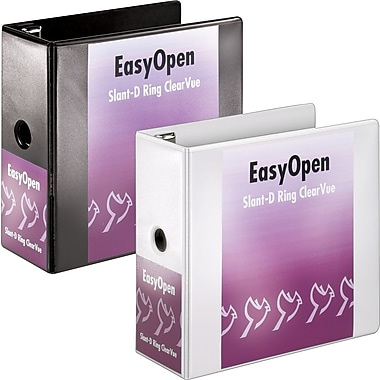 5in. Cardinal® EasyOpen® ClearVue™ Binders with Locking D-Rings