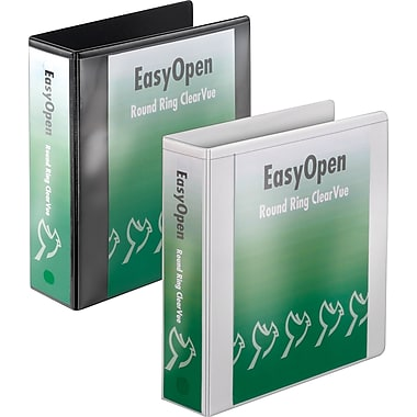 3in. Cardinal® EasyOpen® ClearVue™ Binders with Round Rings