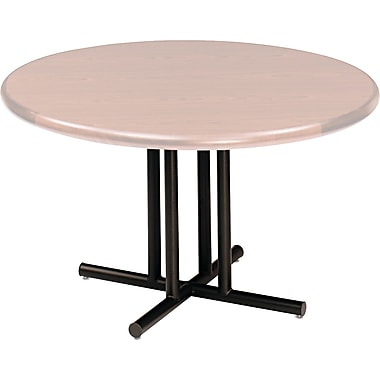 Iceberg Round Conference Table Four Leg Base, Black