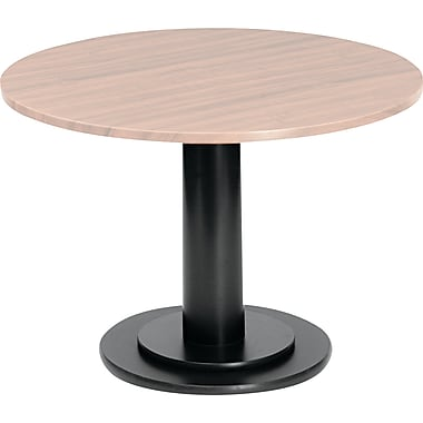Iceberg Round Conference Table Single Column Base, Black