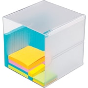 "Deflecto Desktop Organizer, 1 Compartment, Clear, 6""H x 6""W x 6""D"