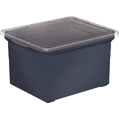 KIS File Box, Recycled, Black, 32 L