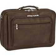 SOLO® Full-Grain Dark Brown Leather Laptop Case, 15.4
