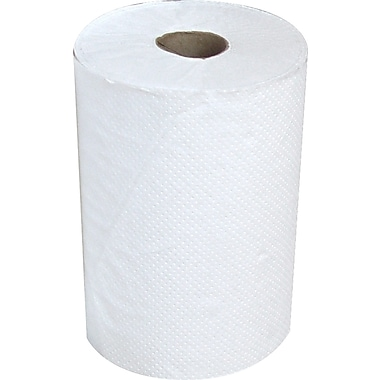 Heavenly Soft® Hardwound Paper Towel Rolls, White, 1-Ply, 6 Rolls/Case