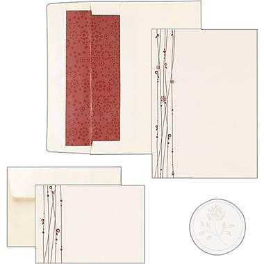 Red Vines Shimmer Invitation and Note Card Kit