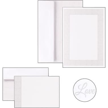 Great Papers® Grey Tile Border Shimmer Invitation and Note Card Kit