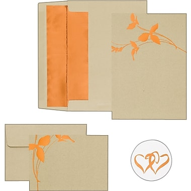 Copper Branches Invitation and Note Card Kit