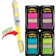 Post-it® Assorted Bright 1in. Flag Bonus Pack w/Free Flag + Highlighter, Each