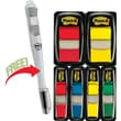 Post-it® Assorted Standard 1in. and 1/2in. Flag Bonus Pack w/Free Flag + Ballpoint Pen, Each
