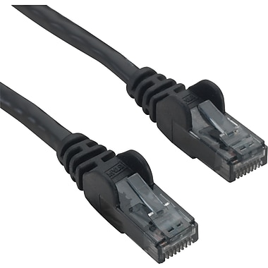 Staples 50' CAT6 Patch Cable - Black