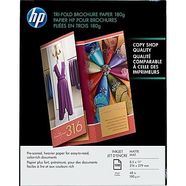 HP Inkjet Tri-Fold Brochure Paper 180g 8 1/2