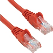 Staples 7' CAT5e Patch Cable - Red