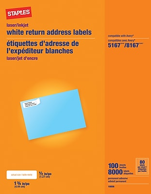It 39 s easy to find the office supplies copy paper for Staples white mailing labels template