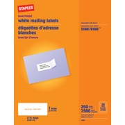 Staples® White Inkjet/Laser Address Labels  1 X 2-5/8, 7,500/Box