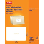 "Staples 3 1/2"" x 5"", Inkjet/Laser Shipping Labels, White, 400/Box (18074-CC)"