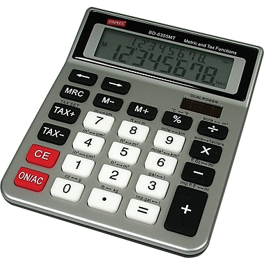 Staples® Metric and Tax Desktop Calculator