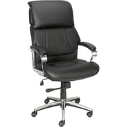Staples® Creswick™ Luxura Executive High-Back Chair w/Padded Headrest, Black