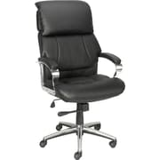 Staples® Creswick™ Luxura® Executive High-Back Chair w/Padded Headrest, Black