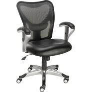 Staples® Avero™ Mesh/Luxura Task Chair, Black