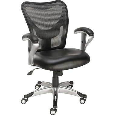 Staples® Avero™ Mesh/Luxura Task Chair, Black