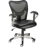 Staples® Avero™ Mesh/Luxura® Task Chair, Black