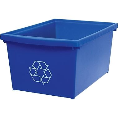 Storex Recycling Bin, Legal-size