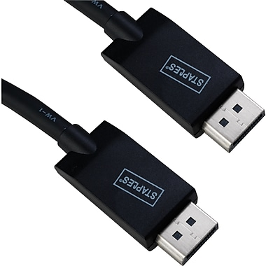 Staples 6' DisplayPort to DisplayPort Cable