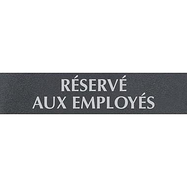 Headline Sign® - Affiche Century Series « Réservé aux employés »