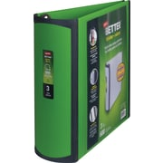 3 Staples® Better® View Binder with D-Rings, Green