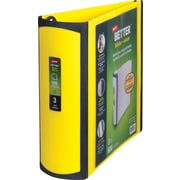 Staples Better 3-Inch D-Ring View Binder, Yellow (20245)