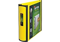 Staples Better 2-Inch D 3-Ring View Binder, Yellow (20248)