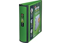 2' Staples® Better® View Binder with D-Rings, Green