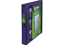1' Staples® Better® View Binder with D-Rings, Purple
