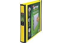 1' Staples® Better® View Binder with D-Rings, Yellow