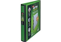 1' Staples® Better® View Binder with D-Rings, Green