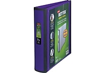 Staples Better View 1.5-Inch D-Ring View Binder, Purple (19061)