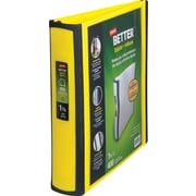 1-1/2 Staples® Better® View Binders with D-Rings, Yellow