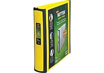 1-1/2' Staples® Better® View Binders with D-Rings, Yellow