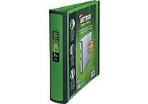 1-1/2' Staples® Better® View Binders with D-Rings, Green