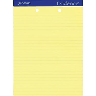 Ampad Evidence® 2-Hole Punched Writing Pads, 8 1/2
