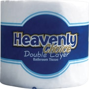 Heavenly Choice® Double Layer Bath Tissue Rolls, 1-Ply, 96 Rolls/Case
